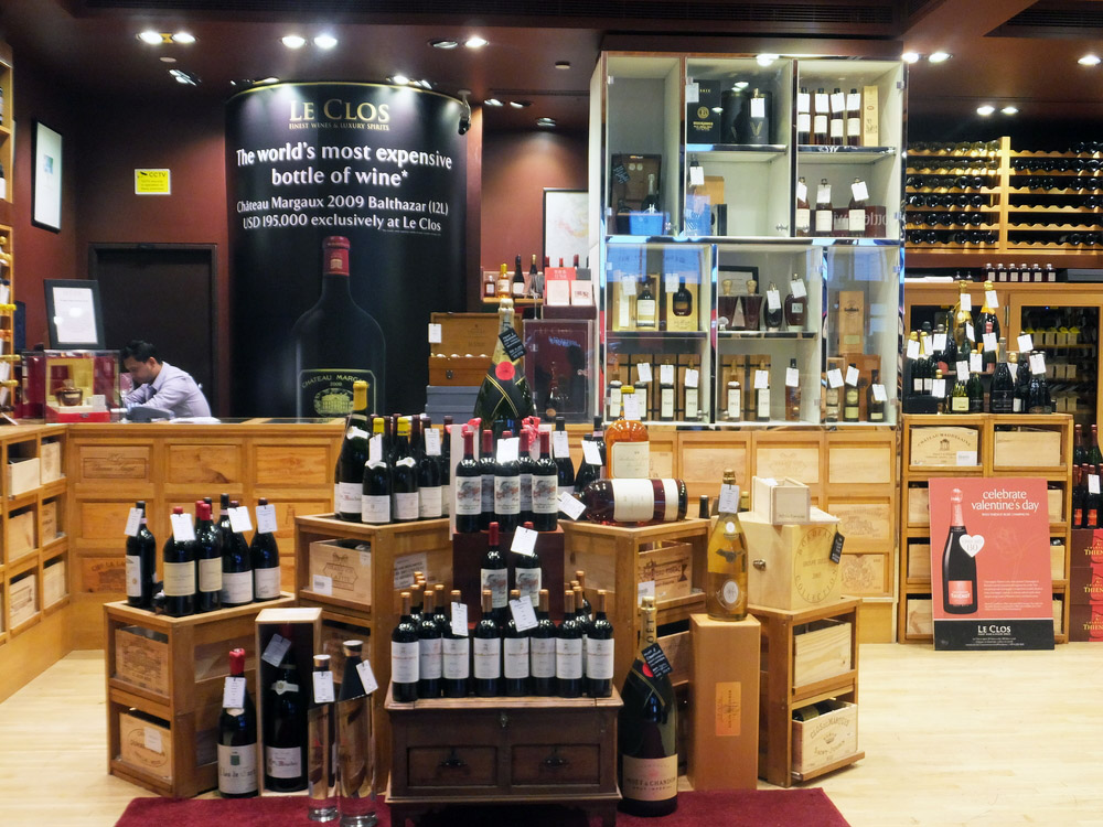 Wine store at Dubai Duty Free at the International Airport. Photo: Shutterstock