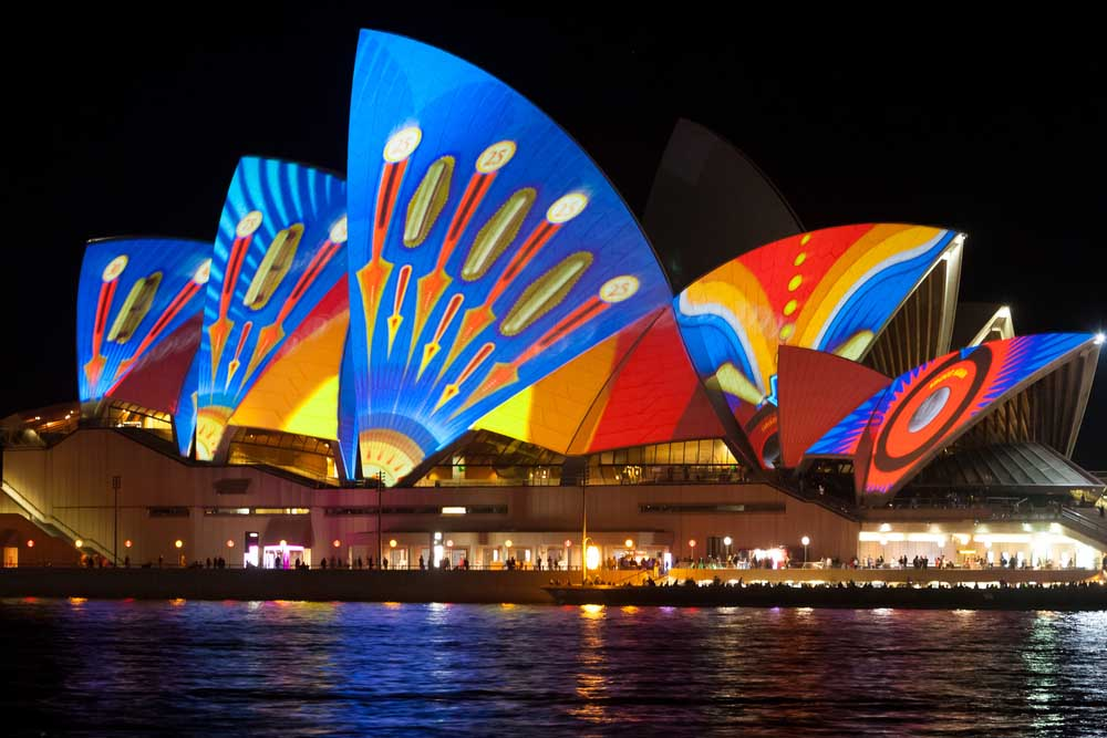 Sydney Opera House is an unmissable sight during the Vivid Sydney festival