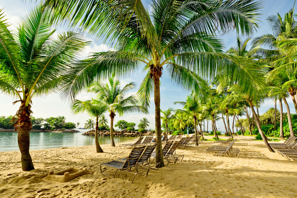 Tropical beach, Sentosa, Singapore. Photo: Shutterstock