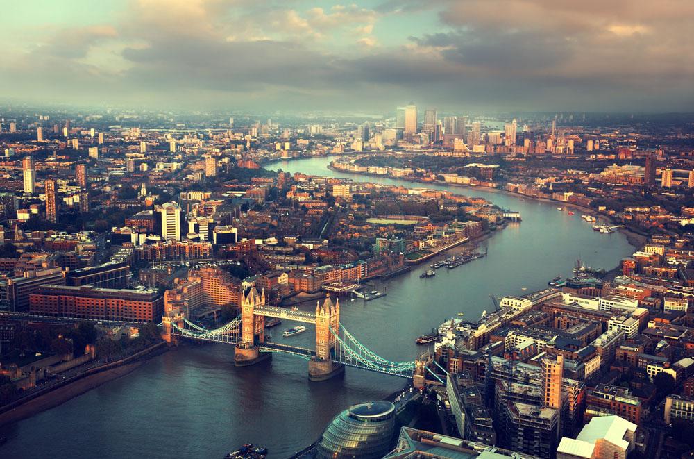 Stunning view from Tower Bridge. Photo: Shutterstock
