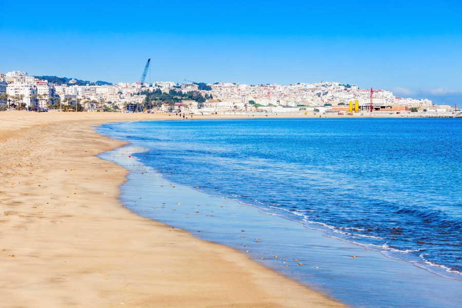 Best beaches in Morocco – Tangier city beach.