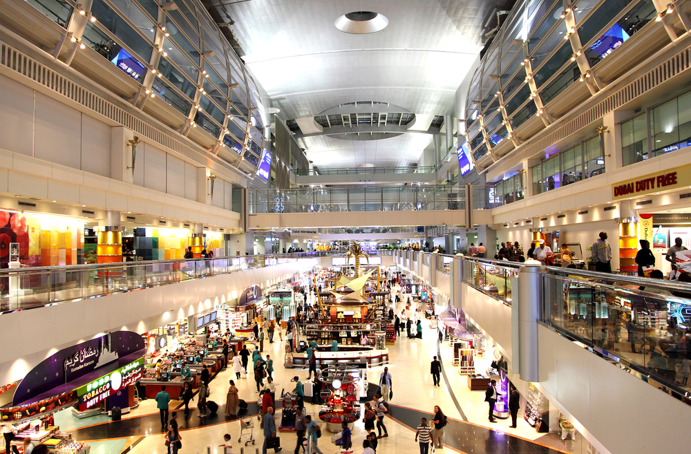 Dubai International Airport with glorious duty free section. Photo: Shutterstock