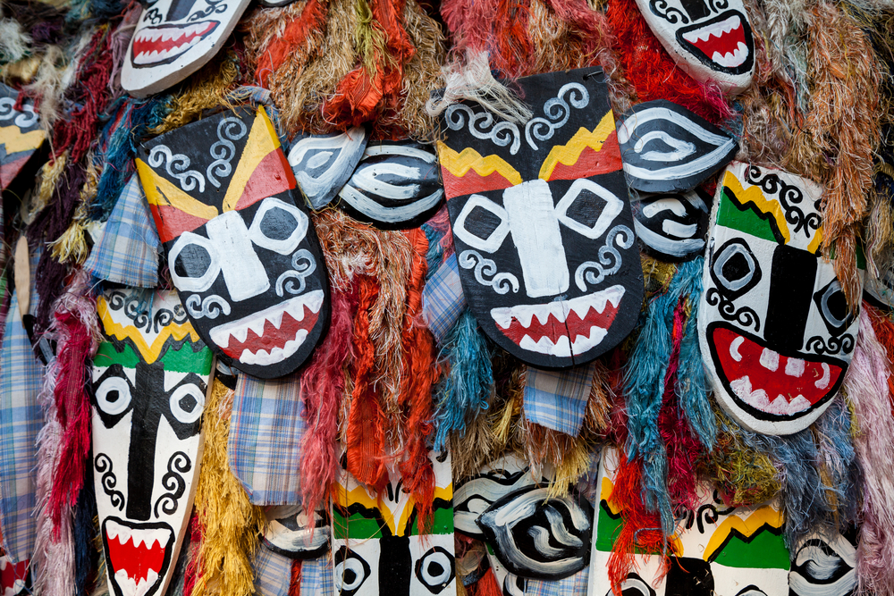 South African hand made wooden masks. Photo: Shutterstock