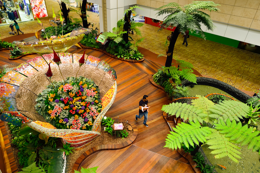 Stunning interior of Changi Airport. Photo: Shutterstock