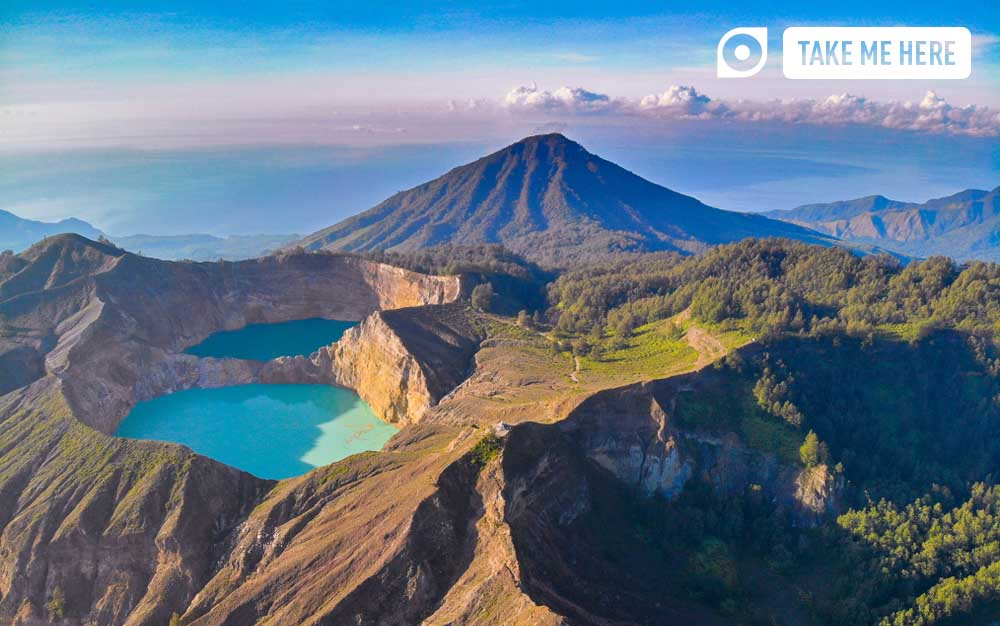 Mount Kelimutu, Indonesia.