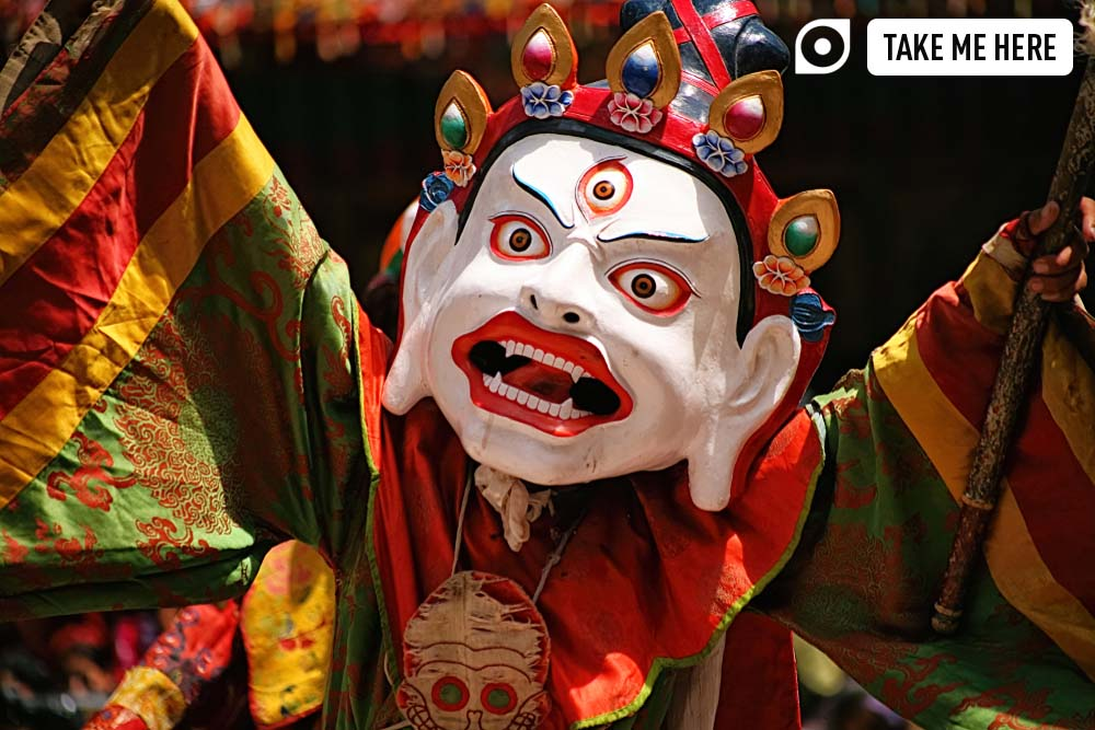Performance of mystical dance in Hemis monastery in Ladakh, India