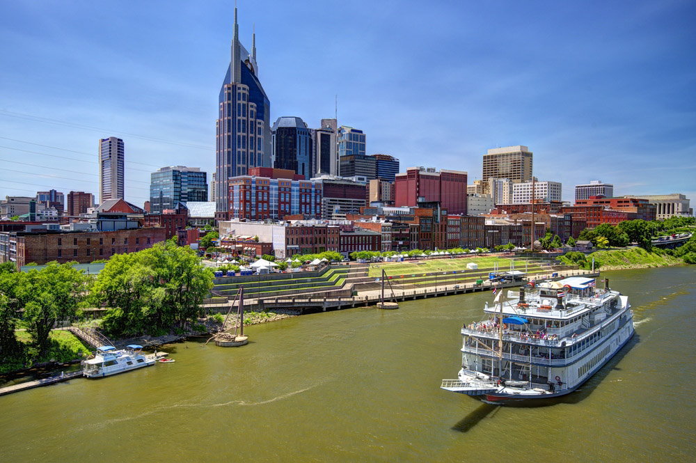 Skyline of downtown Nashville, Tennessee. Photo: Shutterstock