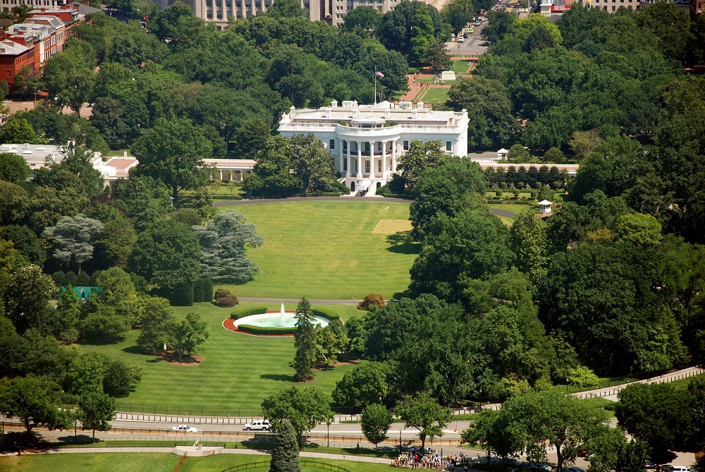 Aerial view of The White House in Washington D.C. from the Washington Monument. Photo:  Vacclav/Shutterstock