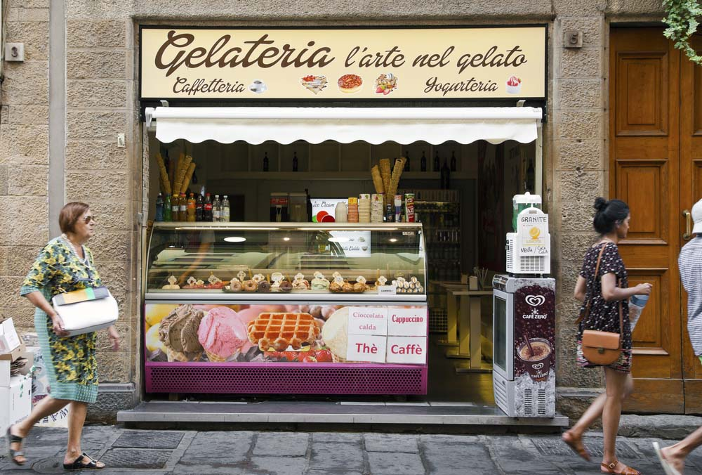 Gelateria in Florence.