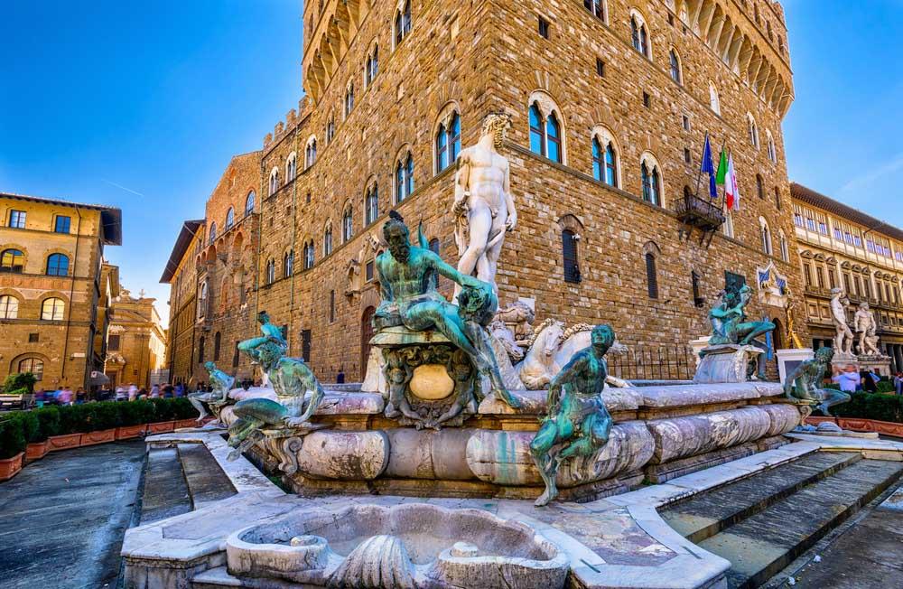 Fountain Neptune in Piazza della Signoria in Florence.