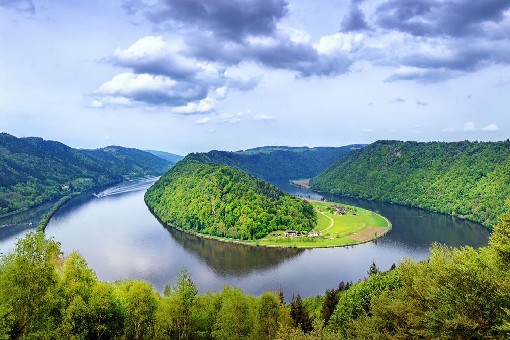 The Danube makes its way through the Austrian plains. Photo: Shutterstock