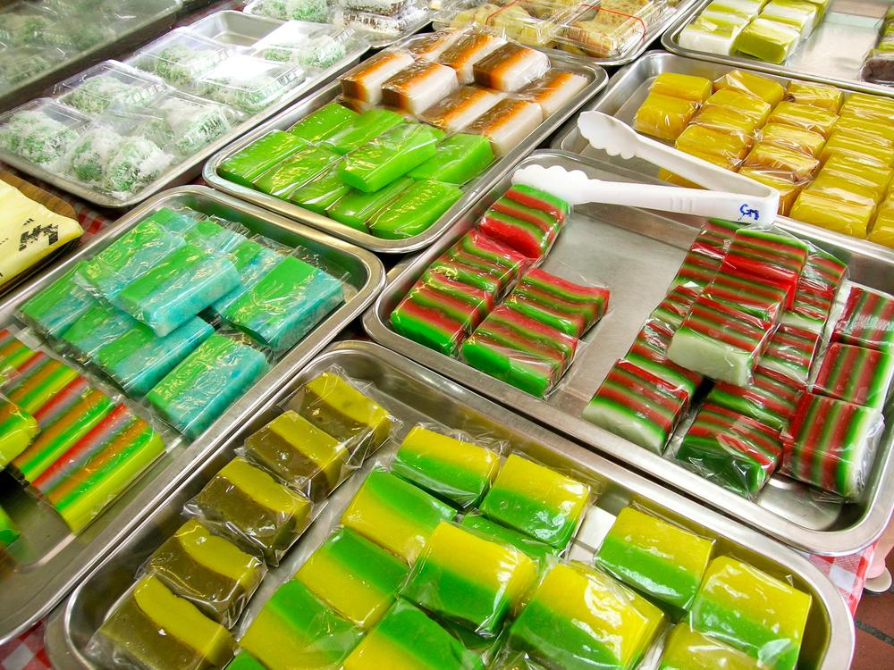 Nyonya Kuih desserts in Singapore.