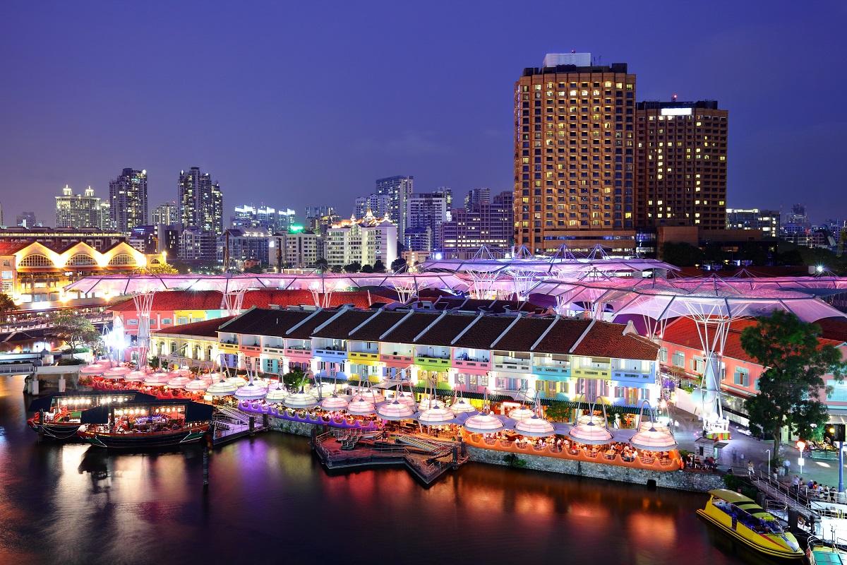 Singapore after dark. Photo:  leungchopan/Shutterstock