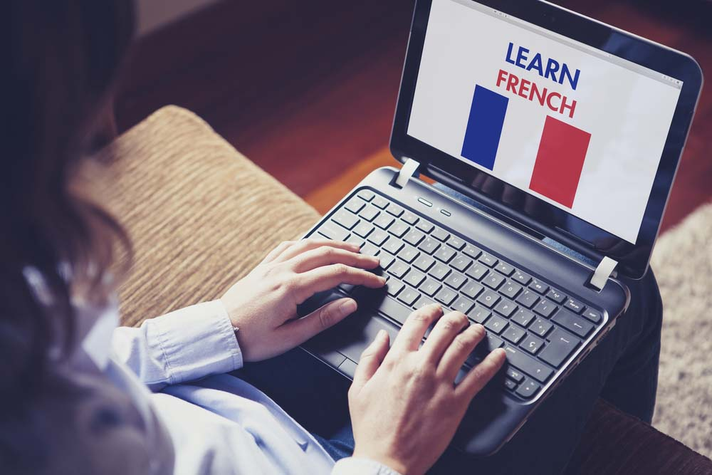 Learning french at home. Photo: Shutterstock