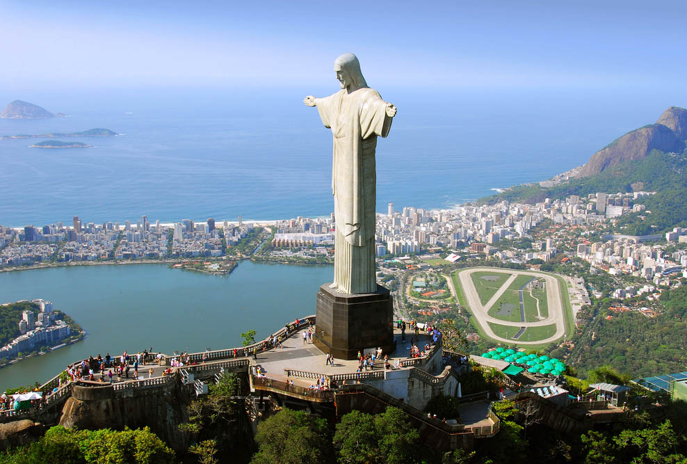 Aerial view of Christ the Redeemer in Rio De Janeiro. Photo: Shutterstock