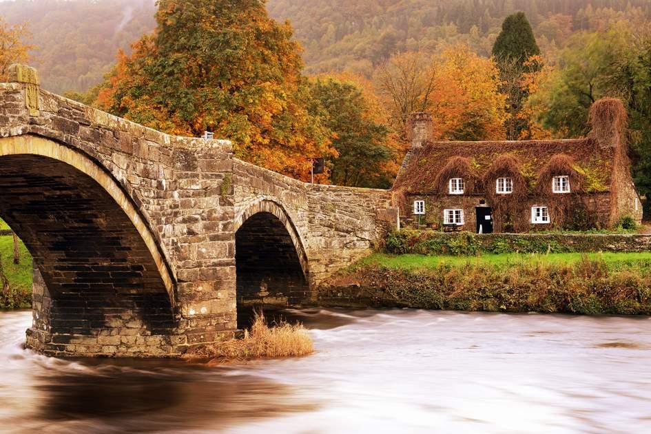 Autumn in Llanrwst ,Snowdonia North Wales