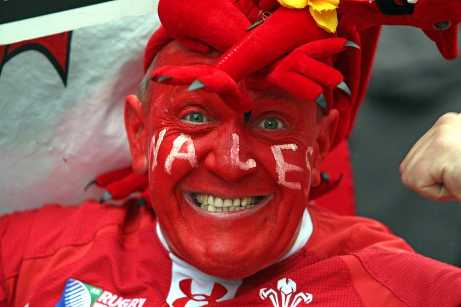 CARDIFF, UNITED KINGDOM, March 15 , 2015, Wales Rugby Supporter
