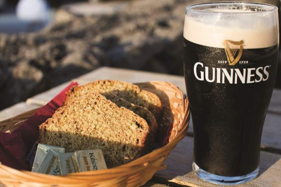 Soda bread and Guinness