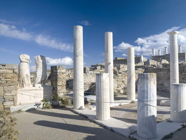 The Greek island of Delos, is one of the most important ...