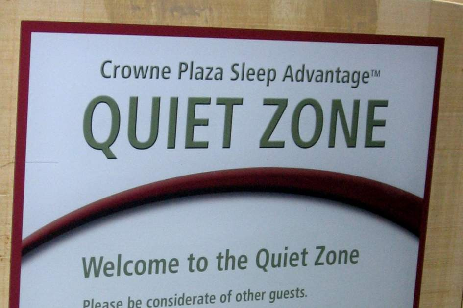 Crowne Plaza Quiet Zone.  Photo: Karl Palutke/Flickr