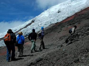 Hiking to the Glacier in Ecuador