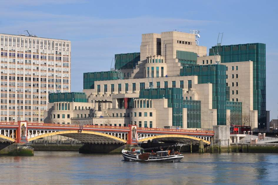 London, The Secret Intelligence Service building