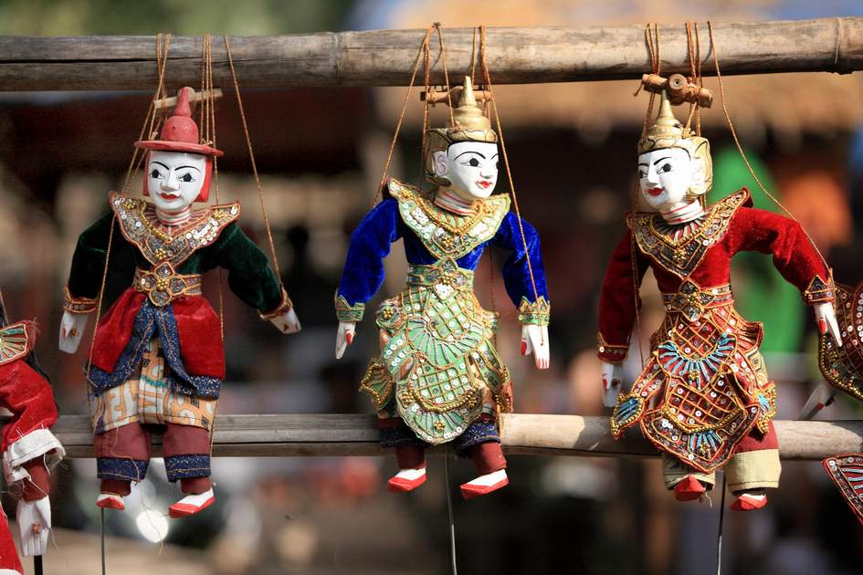 String Puppet Myanmar tradition dolls