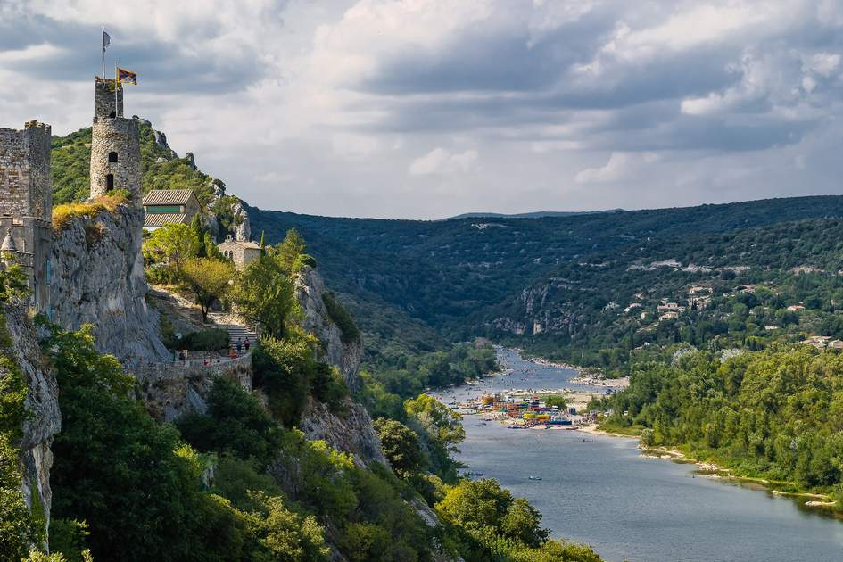 Ardeche river in France