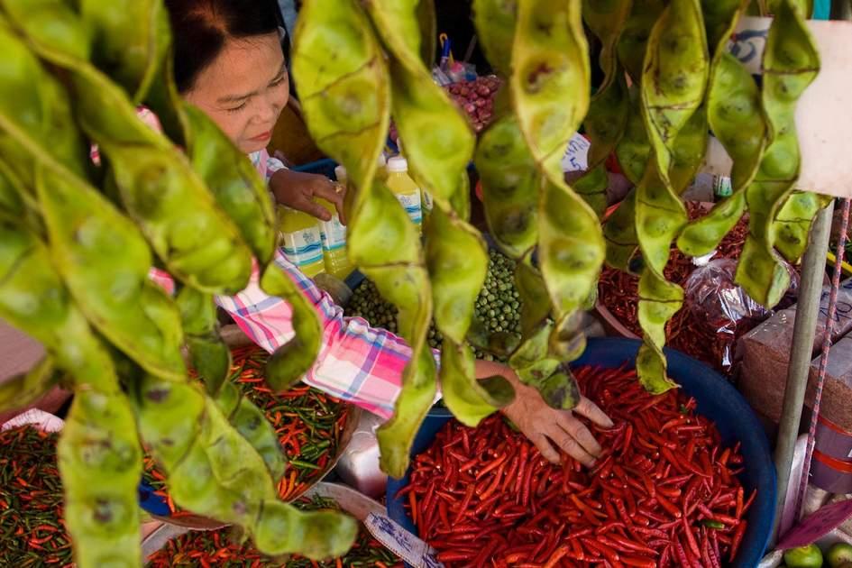 Street market in Phuket Town, Thailand