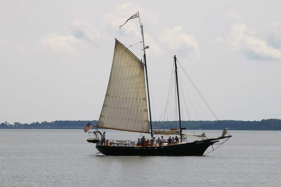 Sailing in Chesapeake Bay, Virginia