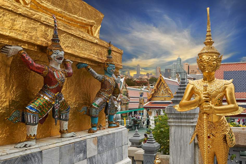 Wat Phra Kaeo, Temple of the Emerald Buddha Bangkok, Asia Thailand