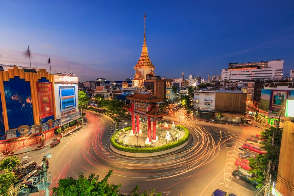 Landmark of Chinatown (Odeon Circle) in Bangkok, Thailand