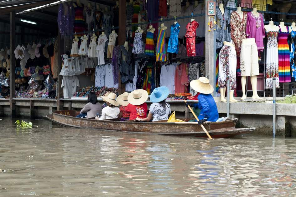 Floating Market in Bangkok.