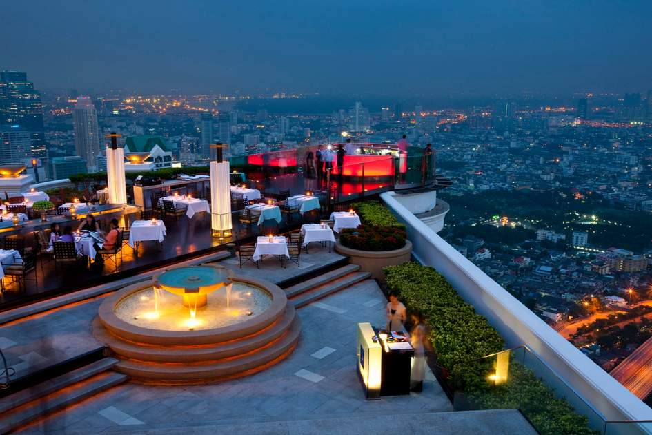 Sirocco Restaurant, Bangkok, Thailand.