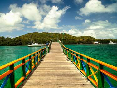 Lovers Bridge - Providence Island, Colombia