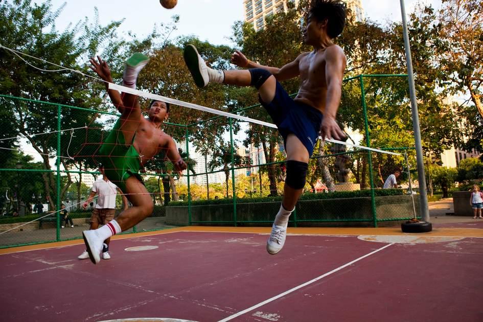 Takraw Game, Bangkok