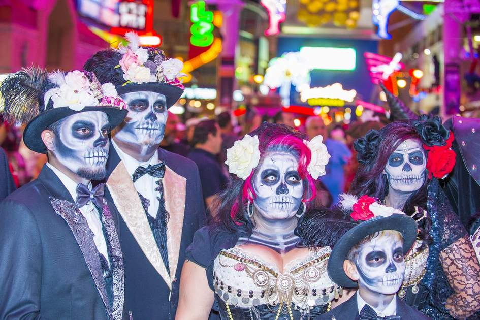 Participants at the annual Las Vegas Halloween parade held in Las Vegas