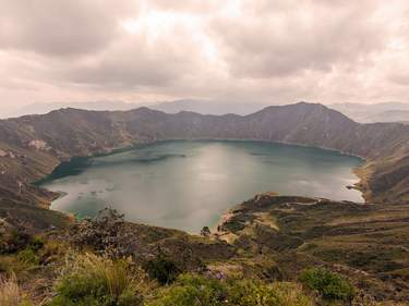 Volcanoes in Ecuador: Quilotoa, the most western volcano in the Ecuadorian Andes.