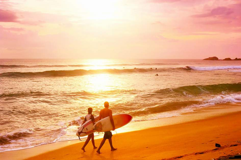 Surfers in Costa Rica