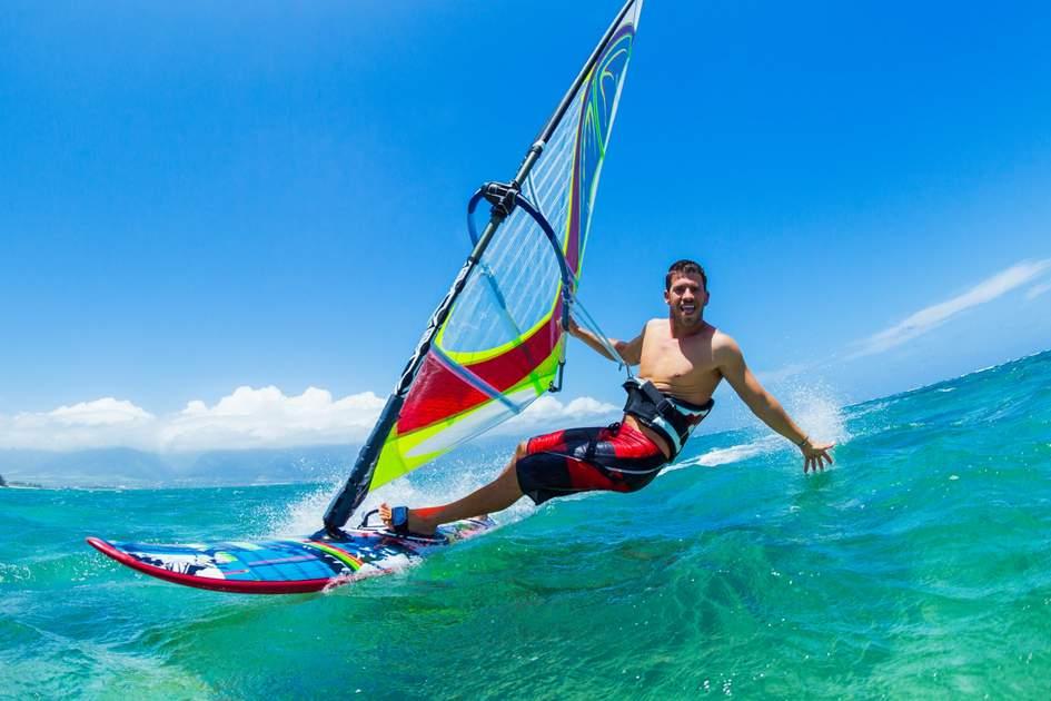 Windsurfing in Vietnam