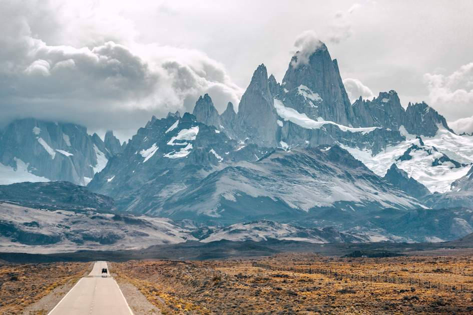 The road to Monte Fitz Roy, Argentina