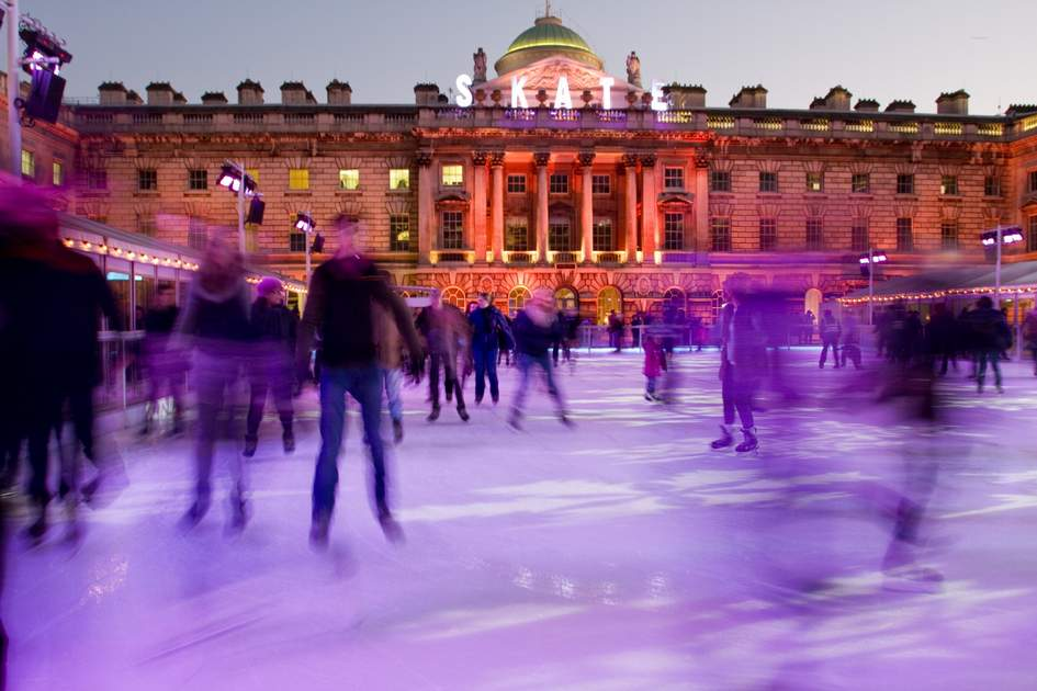 Somerset house ice rink in London