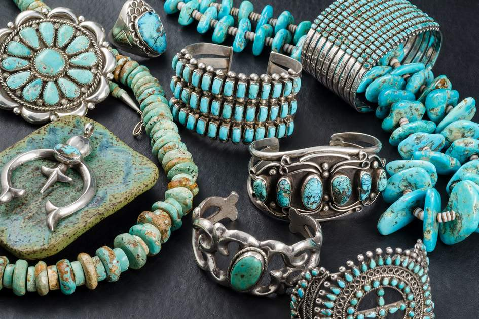 Collection of Vintage Navajo Turquoise and Silver Jewelry