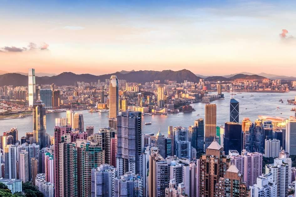 Sunset over Victoria Harbor, Hong Kong. Photo: Shutterstock