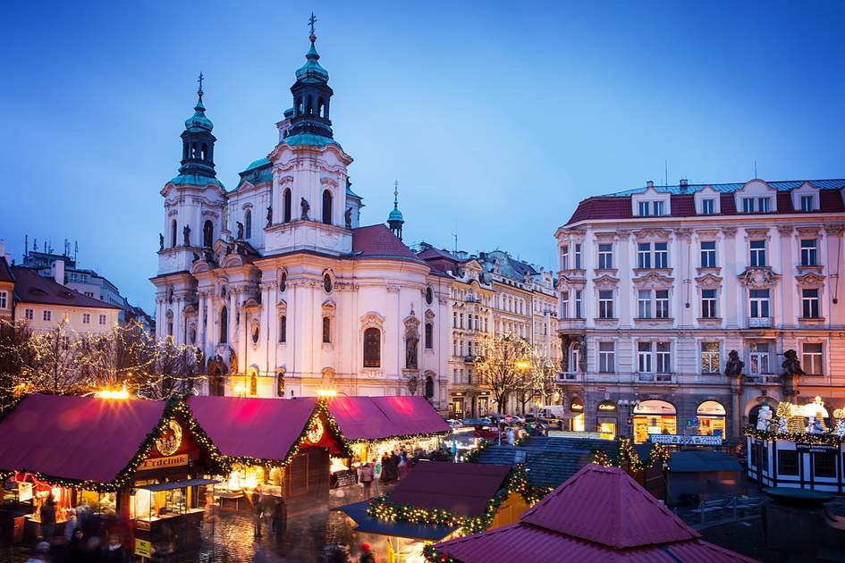 Prague Christmas Market On Old Town Square Photo Shutterstock