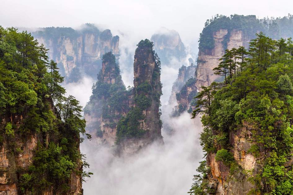 Zhangjiajie National Park in China's Hunan Province.