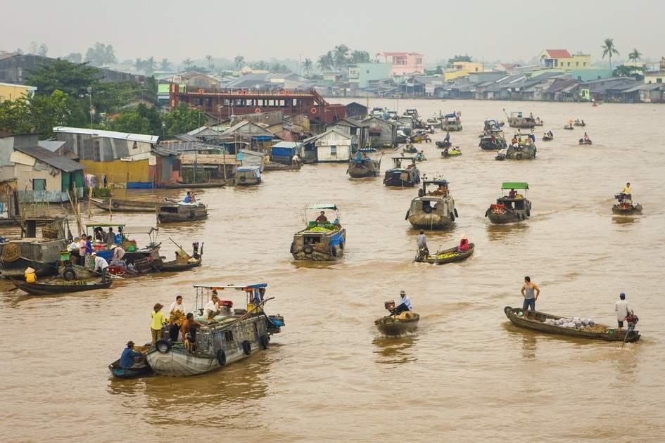 Boat vendors, Can Tho, Vietnam
