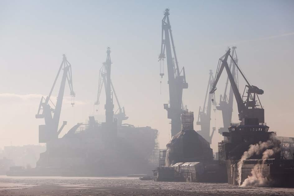 Historic shipyards in Gdansk, Poland