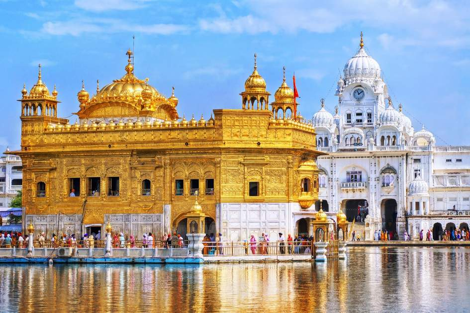 The Golden Triangle: Golden Temple, the main sanctuary of Sikhs, Amritsar, India