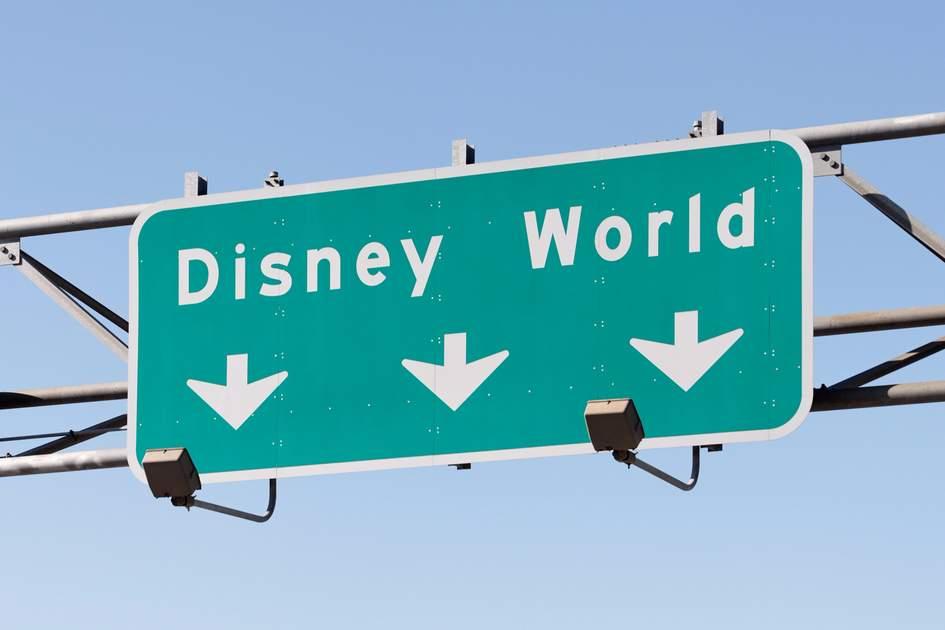 Disney world road sign